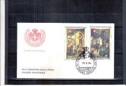 1 FDC Ordre De Malte 1984 -Série Complète - Tableaux - Malte (Ordre De)