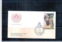 1 FDC Ordre De Malte 1984 -Série Complète - Noël - Tableau - Malte (Ordre De)