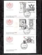 3 FDC Ordre De Malte 1985 -Série Complète - - Malte (Ordre De)