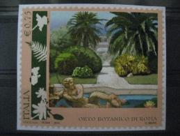 ITALIA USATI 2012 - ORTO BOTANICO ROMA - SASSONE 3345 - RIF. M 0312 Su Frammento - 2011-...: Usati