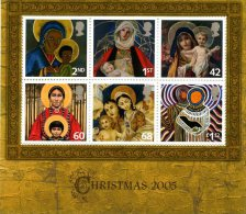 GROSSBRITANNIEN GRANDE BRGB 2005 CHRISTMAS MINIATURE SHEET M/S SG MS2588 MI BLOCK-2360-65 SC SH2327 YV F36-2706-11 - Ganze Bögen & Platten