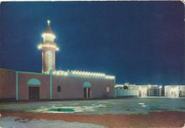 LIBYA -  Tobruk - Dar Essalam El Amina Mosque, Moschea, By Night, Old Photo Postcard - Libye