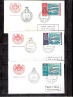 3 FDC Ordre De Malte 1975-76 Expres - Série Complète - Dauphins - Malte (Ordre De)