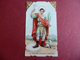 Santino San Vittore Soldato Martire CROMOLITOGRAFICO Ottimo** - Santini