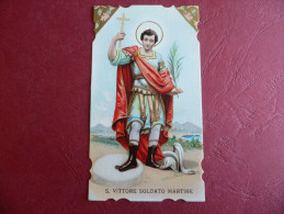 Santino San Vittore Soldato Martire CROMOLITOGRAFICO Ottimo** - Imágenes Religiosas
