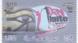 Egypt New Issue 2014, Woman's Day 1 V. Complete Set MNH- - Nuovi
