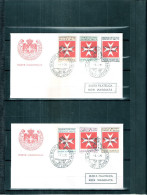 2 FDC Ordre De Malte 1975 Taxe - Série Complète - Malte (Ordre De)