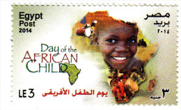 Egypt, New Issue 2014, Day Of African  Child 1v. MNH,complete Set - Nuovi