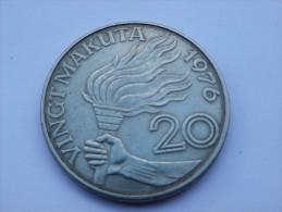 ZAIRE  20 MAKUTA  1976       TTB       KM 8   CUP NI. - Zaïre (1971-97)