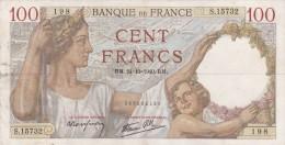 - BILLETS - 100 F - SULLY - R. M . . 24=10 = 1940 . R . M  . N° 198 - S . 15732 - - 1871-1952 Antichi Franchi Circolanti Nel XX Secolo