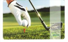 Germany - Galeria Kaufhof - Golf - Sport - Carta Regalo - Gift Card - Geschenkkarte - Frankreich