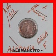 ALEMANIA  -   IMPERIO  -  DEUTSCHES REICH - 1 Pfn: AÑO 1912-F - [ 2] 1871-1918 : Imperio Alemán