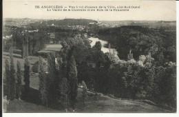 ANGOULEME , Vue à Vol D'oiseau De La Ville , Côté Sud-Ouest , La Vallée De La Charente Et Les Bois De La Poudrerie - Angouleme