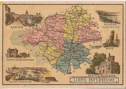 CHROMO CHICOREE A LA CANTINIERE BLACK RUE DE LA VERRERIE DEPARTEMENT DE LA LOIRE INFERIEURE CARTE GEOGRAPHIQUE - Chromos