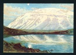 ICELAND  -  Eiriksjokull  Waterclour By Collingwood In The National Museum  Unused Postcard As Scan - Iceland