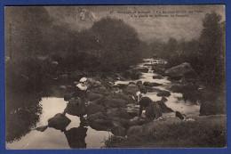 29 ERGUE-GABERIC Un Barrage Naturel Sur L´Odet à La Pointe De Griffonés Au Stangala ; Laveuses, Lavandières - Animée - Ergué-Gabéric