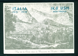 ITALY  -  QSL Card  As Scan - Radio