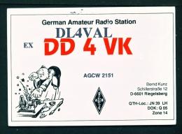 GERMANY  -  QSL Card  As Scan - Radio
