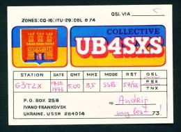 UKRAINE  -  QSL Card  As Scan - Radio