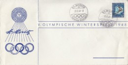 OLYMPISCHE SPIELE-OLYMPIC GAMES-OLYMPICS, Switzerland, 1948, Special Postmark !! - Winter 1948: St. Moritz