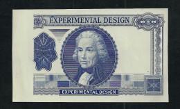 """EXPERIMENTAL Blau,"", Typ A, Trial, Essay, Probedruck, INTAGLIO, RRRR, UNC, Ca. 122 X 72 Mm, Essay, Uniface. - Ver. Königreich"