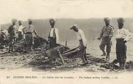 Militaires Militaria -ref D414- Guerre 1914-18- Indes -indian Army -hindous -les Indiens Font Des Tranchees  - - Guerre 1914-18