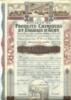 Documenti Azionari - Produits Chimiques Et Engrais D'Auby - Industrie