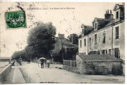 44. Ancenis. Le Quai De La Marine. Coin Haut Gauche Abimé. Traces De Colle Au Verso - Ancenis