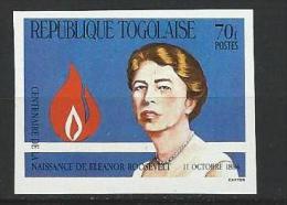 "Togo YT 1145 Non Dentelé "" Eleanor Roosevelt "" 1984 Neuf** - Togo (1960-...)"