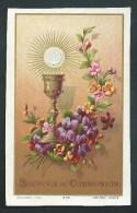 Souvenir De Communion. Charles Meert. Collège St. Joseph, Alost. 1884.  Bouasse-Lebel N°854. - Images Religieuses
