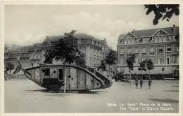 Militaires Militaria -ref D404- Guerre 1914-18- Ypres -belgique -le Tank Place De La Gare -theme Tanks -chars D Assaut - - Equipment