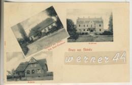 """Gruss Aus Gleinitz V.1903 Gasthof """"ZUr Linde"""",Inh. Kurt Fechner,Schule,Schloss (13079) - Schlesien"""