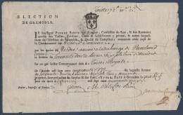 FR Doc De 1740 Reçu De La Perception De La Taille Royale D'une Commune Du Dauphiné - Historical Documents