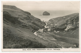 Gull Rock And Trebarwith Valley, Tintagel, 1946 Postcard - Other
