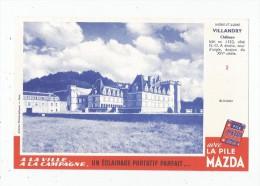 Buvard Pile MAZDA , Château VLLANDRY , Indre Et Loire , N° 2 ,  Frais Fr : 1.30€ , Buvard Sup : 0.50€ - Unclassified