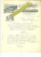 69 - Rhône - LA DEMI-LUNE Près LYON - Facture RIVOIRE - Manufacture De Biscuits – 1910 - REF 216 - France