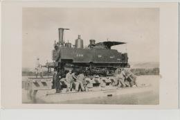 Carte Photo Train Sur Radeau En Marne Machine 0.939 Est Serie 7 Chalons - Trains