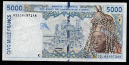 BURKINA FASO - UPPER VOLTA (West African States) 5000 Francs 2002- P313Cl - XF - 02168497288 - Burkina Faso