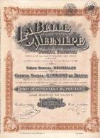 La Belle Meunière - 1929 - Actions & Titres