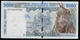 BURKINA FASO - UPPER VOLTA (West African States) 5000 Francs 2002- P313Cl - XF+ - 02168497202 - Burkina Faso
