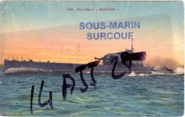 SOUS MARIN SURCOUF Griffe Sur Carte Postale Vierge - Marcophilie (Lettres)