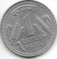 *india 1 Rupee  1975 B Km   78.1    Unc - Inde