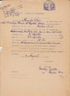 RENTAL CONTRACT, 2 REVENUE STAMPS, 1951, ROMANIA - Documents Historiques