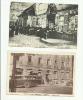 2 CPA:SCÈNES VÉCUES A TROYES EN 1914 NOMBREUSES PERSONNES POUR ALLOCATIONS FAMILIALES,AUTOCAR AU GRAND HÔTEL.(dép 10) - Troyes
