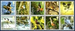 GB 2008 ENDANGERED SPECIES (BIRDS) SET OF 10 MNH SG 2764-73 MI 2558-67 SC 2498-507 IV 2922-31 - 1952-.... (Elizabeth II)