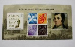 ROBERT BURNS 250th ANNIVERSARY  MINIATURE SHEET 2009 - 1952-.... (Elizabeth II)