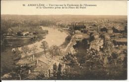 ANGOULEME , Une Vue Sur Le Faubourg  L' Houmeau Et La Charente Prise De La Place Du Palet - Angouleme
