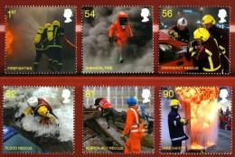 GB 2009 THE FIRE SERVICE SET OF 6 MNH SG 2958-63 MI 2791-96 SC 2681-85 IV 3176-81 - 1952-.... (Elizabeth II)