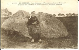 "CPA  LOCRONAN, La ""jument"" Pierre Sacrée Des Druides 11232 - Locronan"