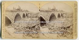 FOTOGRAFIA STEREOSCOPICA JOHNSTOWN FLOOD PENNSYLVANIA ANNO 1889 - Stereoscopi